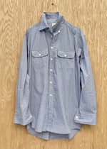 RTH TWO POCKET SHIRT - Mini Windowpane - blue/white