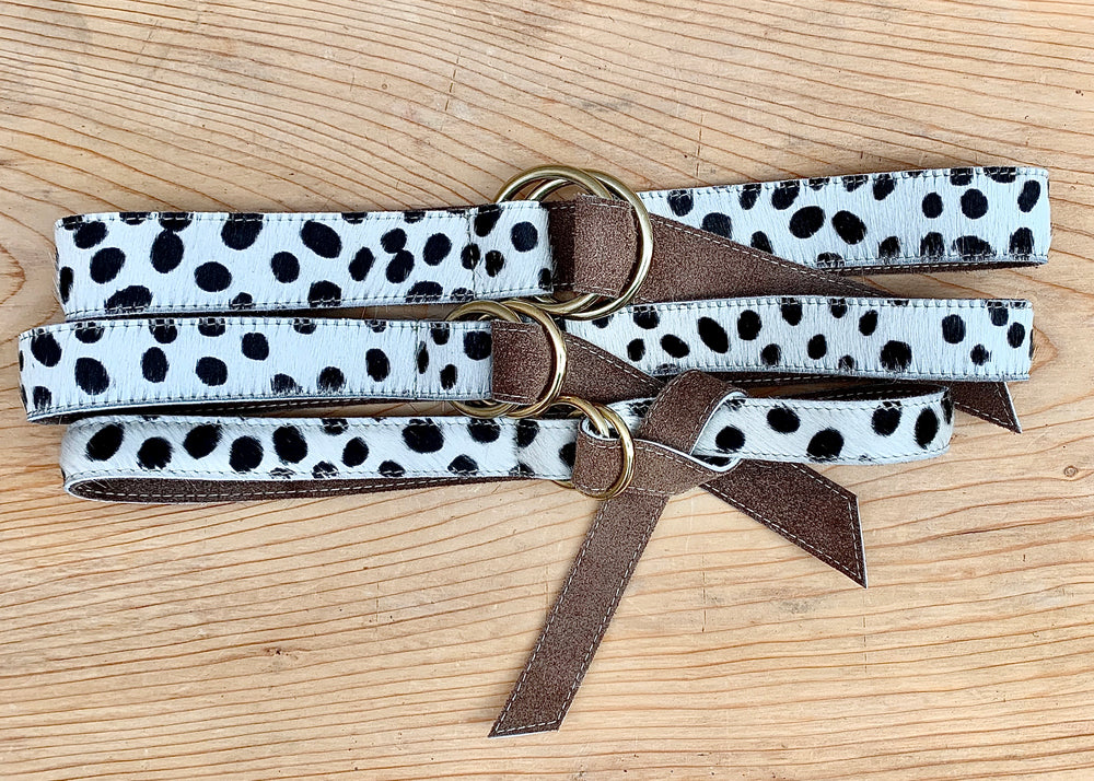 RTH O-RING BELT - SPOTTED WHITE