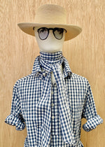 RTH NECK SASH - Gingham Check - blue/white