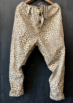 RTH DRAWSTRING PANTS -Cotton Stretch Twill - Natural Leopard