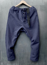 RTH DRAWSTRING PANTS - WASHED FLEECE - COTTON - NAVY