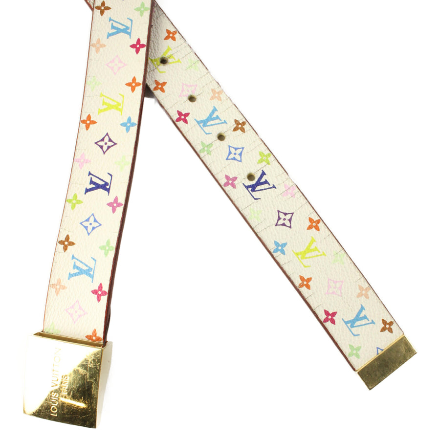 LOUIS VUITTON/Belt/Ceinture LV Cut/Monogram Multicolor