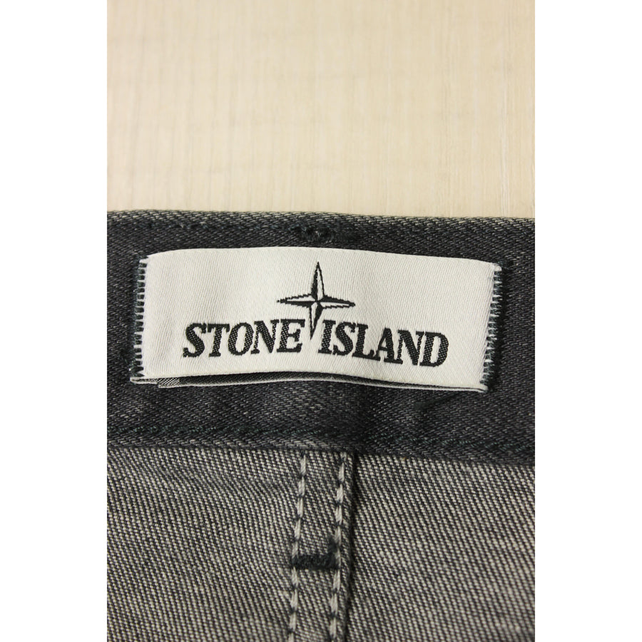 STONE ISLAND/Straight Pants/31/Denim/BLK