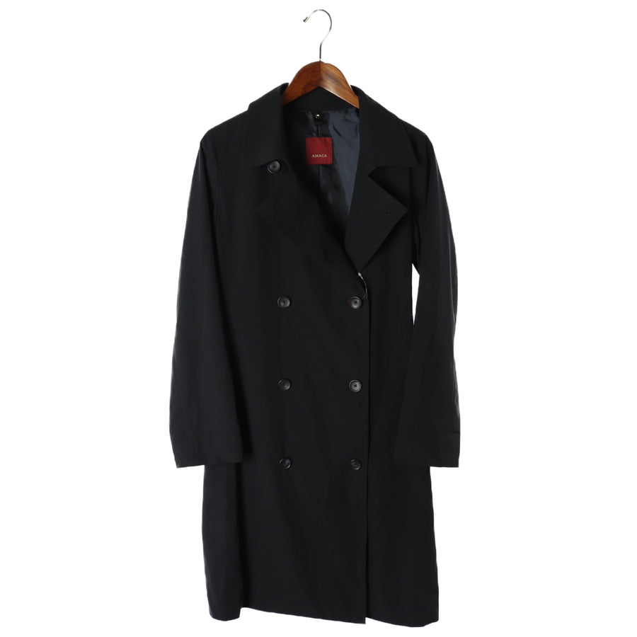 AMACA/Trench Coat/38/Polyester/BLK