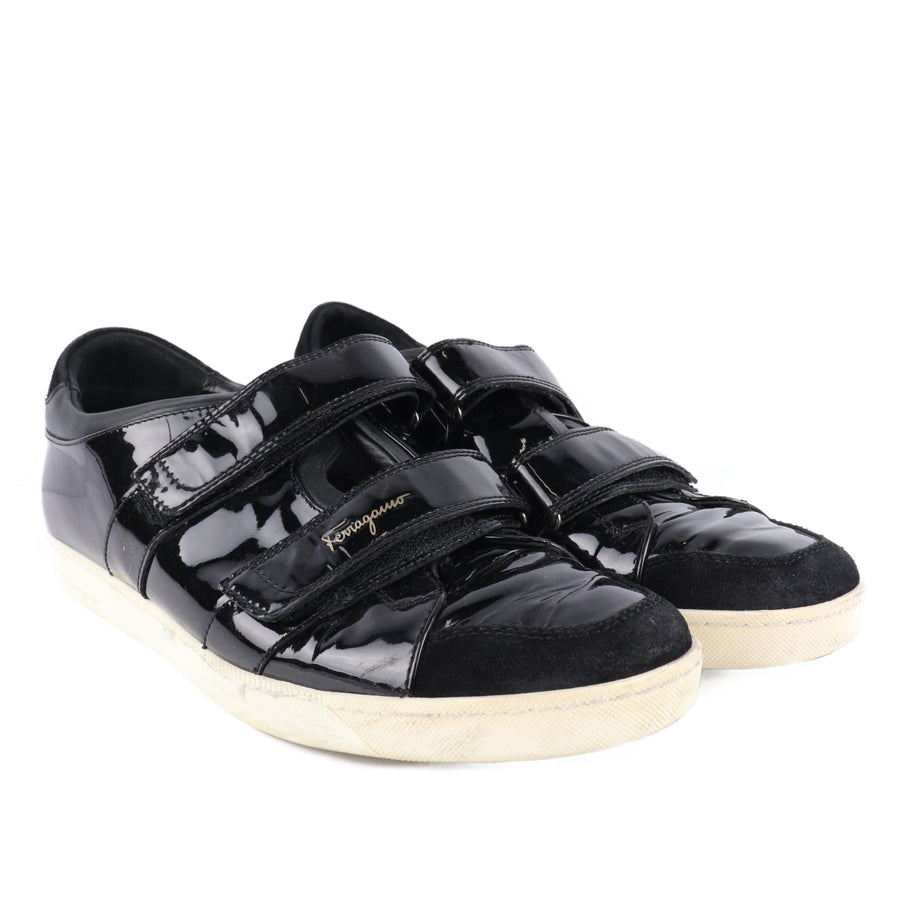 Salvatore Ferragamo/Low-Sneakers/UK8.5/BLK/Enamel