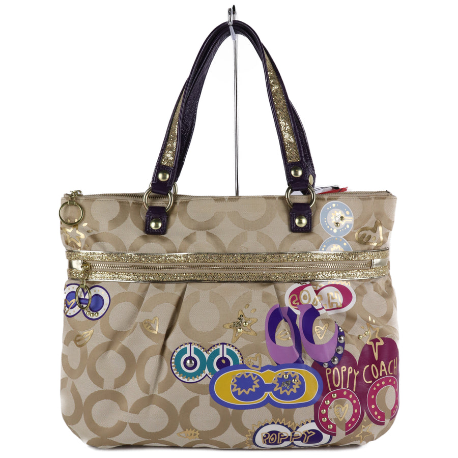 COACH/Tote Bag/Canvas/Multi Color