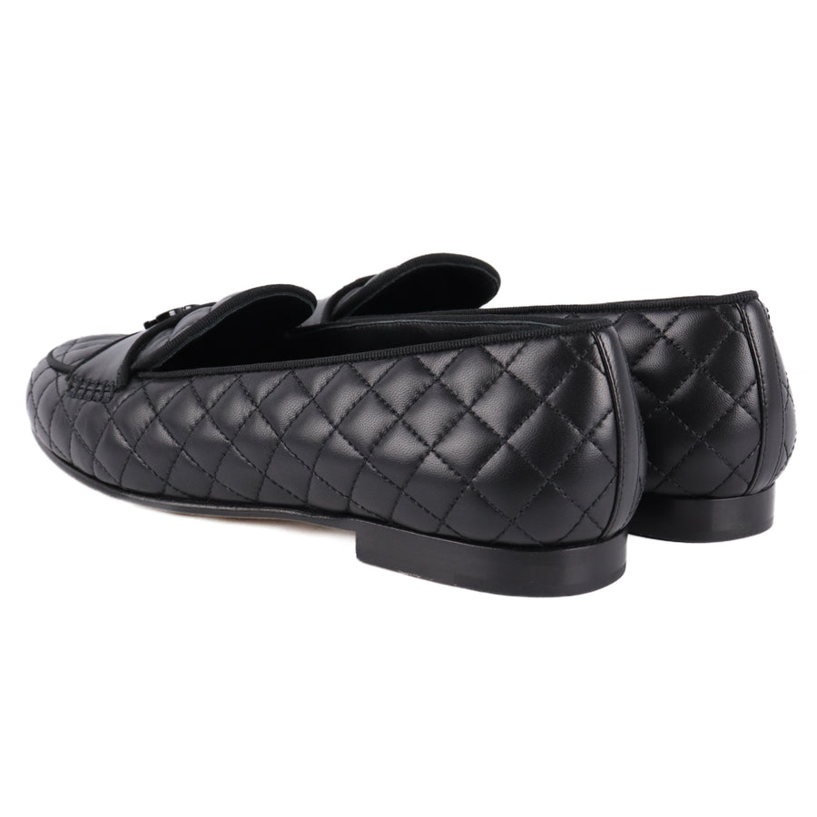 CHANEL/Matrasse/18AW/Loafers/38/BLK/G34345