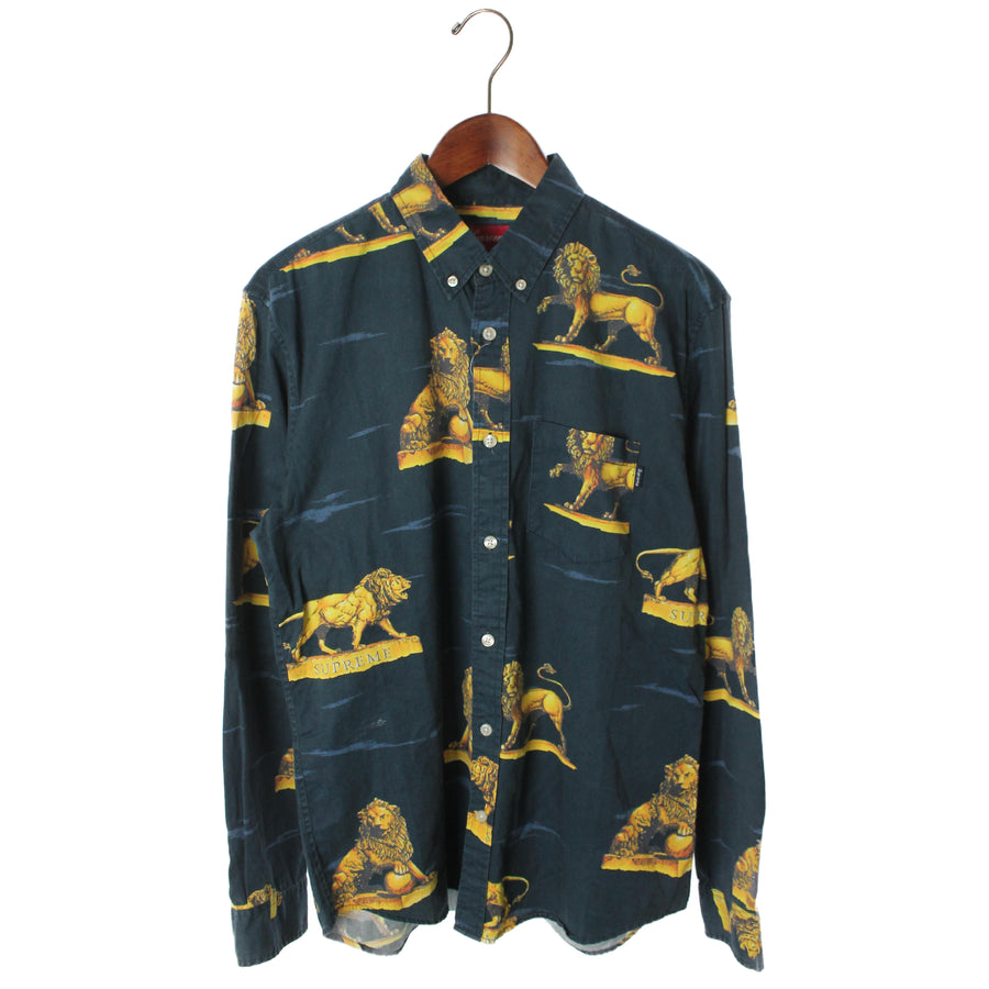 Supreme/Lions Shirt/Shirt/M/Cotton/NVY
