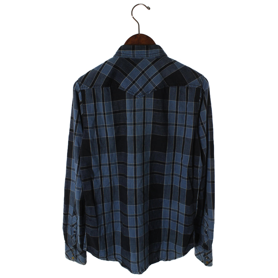 DIESEL/LS Shirt/S/Cotton/NVY/Pliad