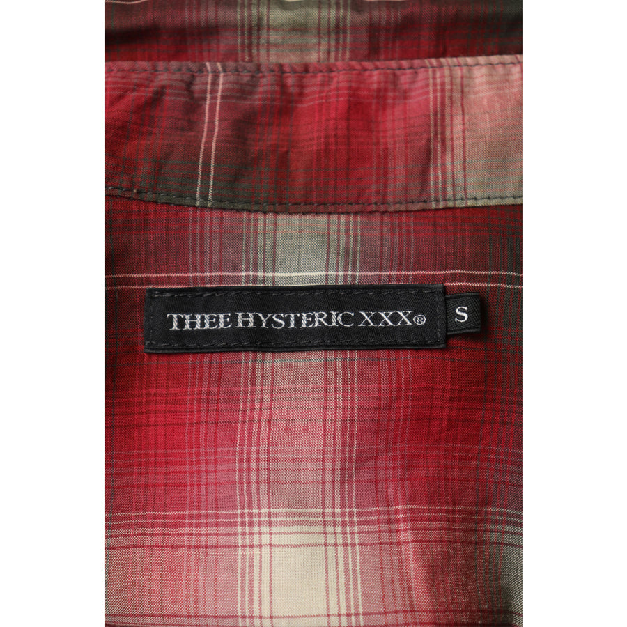 THEE HYSTERIC XXX/LS Shirt/S/Cotton/RED/Plaid