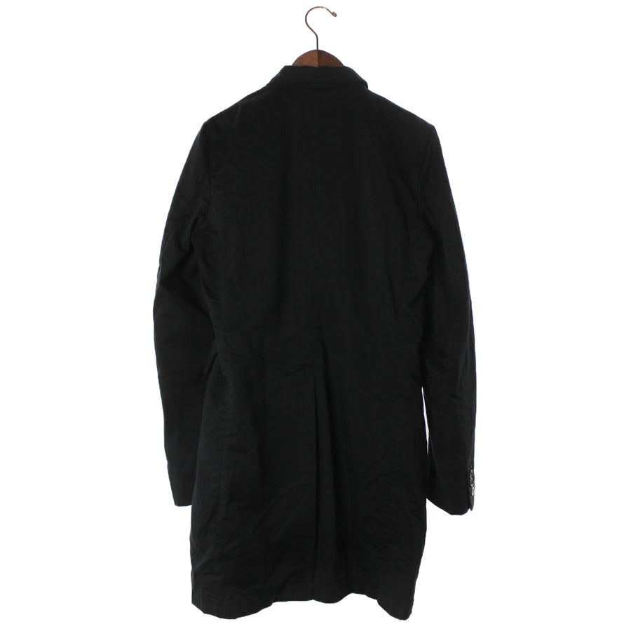 BLACK COMME des GARCONS/BalCollar Coat/M/Cotton/BLK