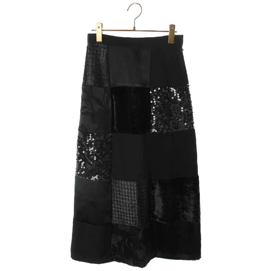 tricot COMME des GARCONS/Long Skirt/M/Polyester/BLK