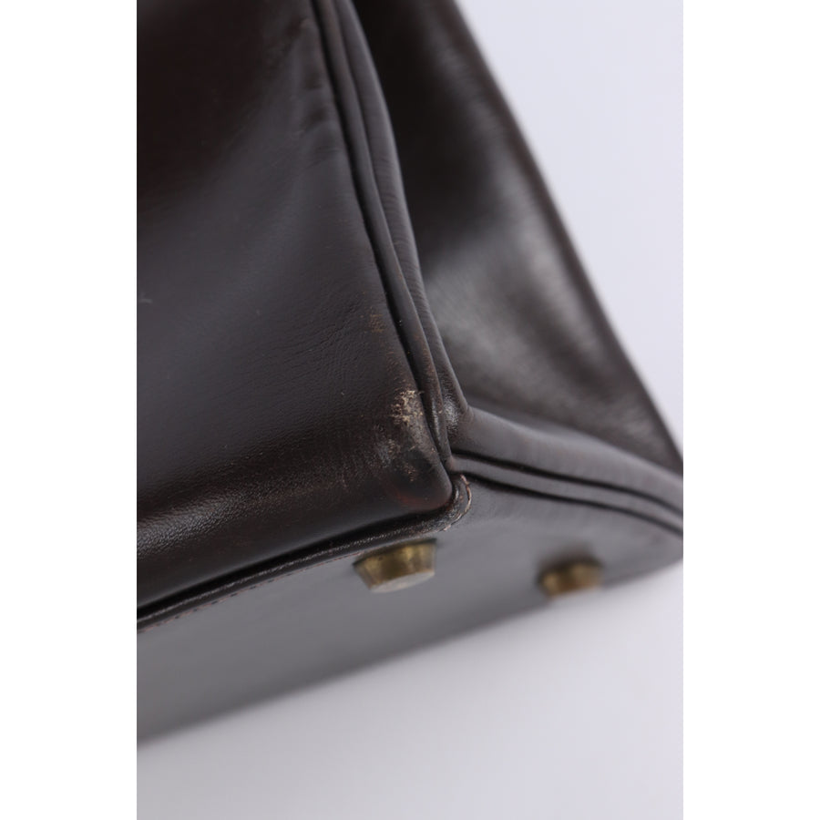 HERMES/Tote Bag/Leather/BRW/Plain