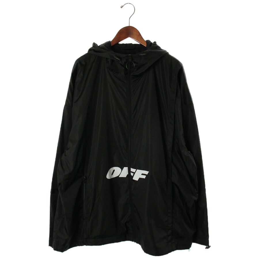 OFF-WHITE/2018-2019AW/Windbreaker/XS/Polyester/BLK