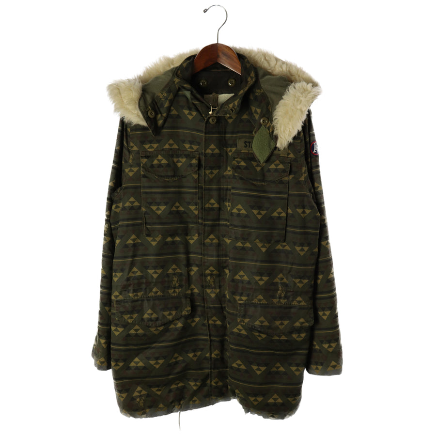 HYSTERIC GLAMOUR/M-65/Military Jacket/M/Cotton/GRN/Total handle