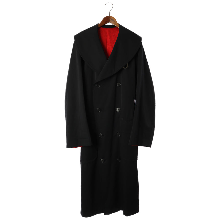 Ys/Coat/Wool/BLK