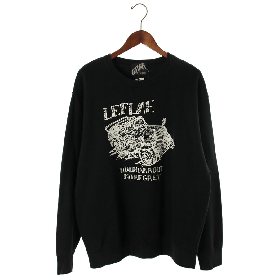 LEFLAH/Sweatshirt/XL/Cotton/BLK