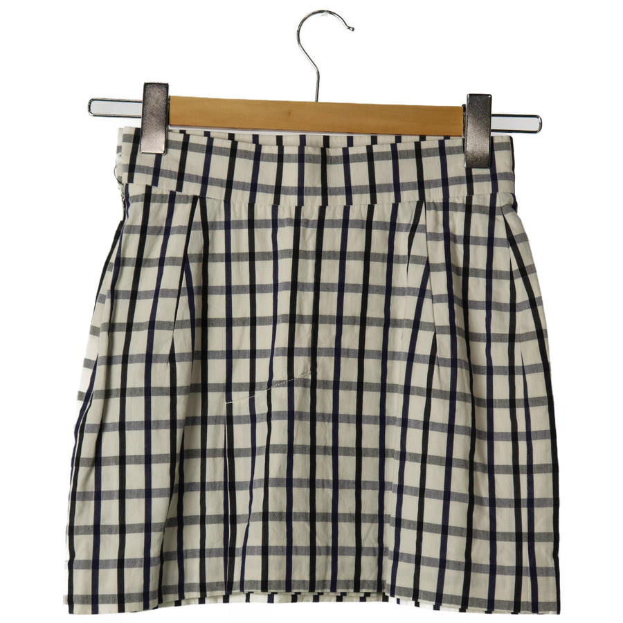 Vivinne Westwood /Skirt/40/WHT/Plaid