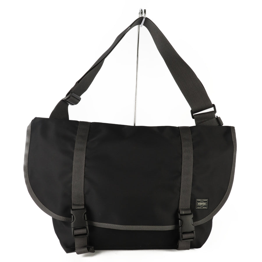 HEAD PORTER/Cross Body Bag/PVC/BLK/Plain