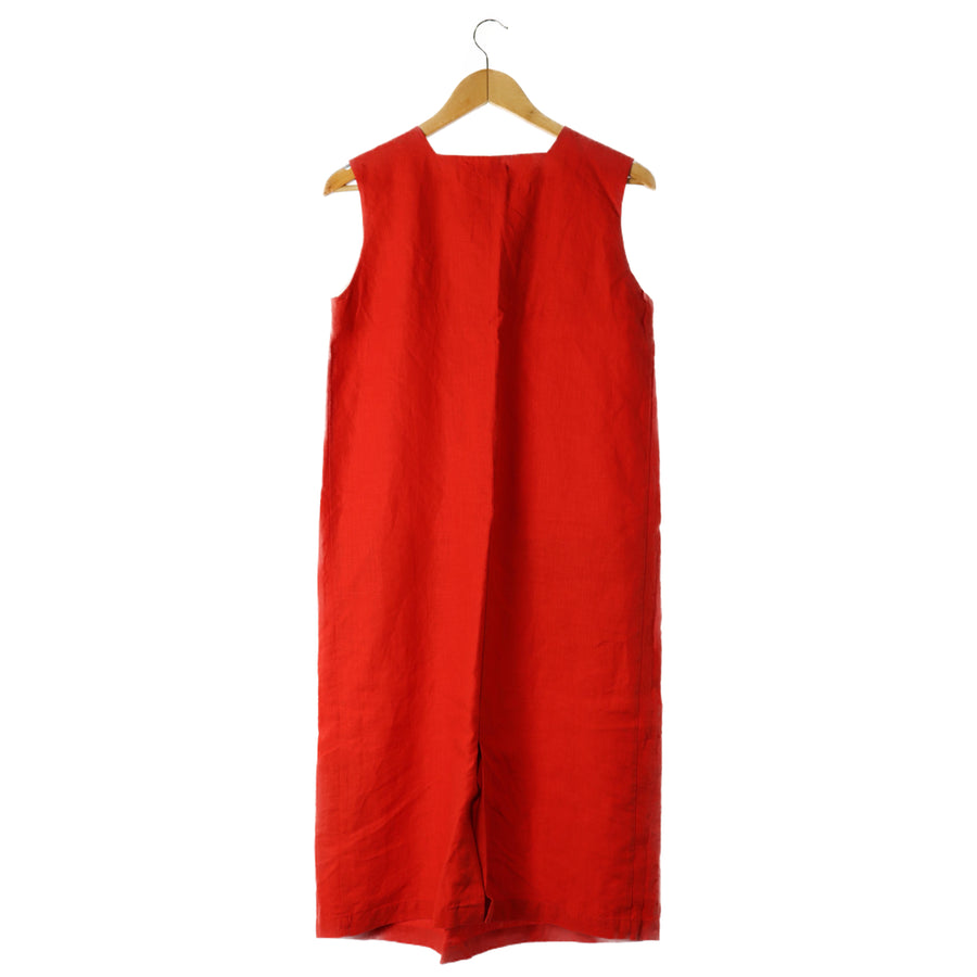 BEAMS/Dress/38/linen/RED
