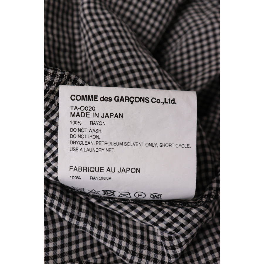 COMME des GARCONS/SS Dress/S/Rayon/NVY/Plaid