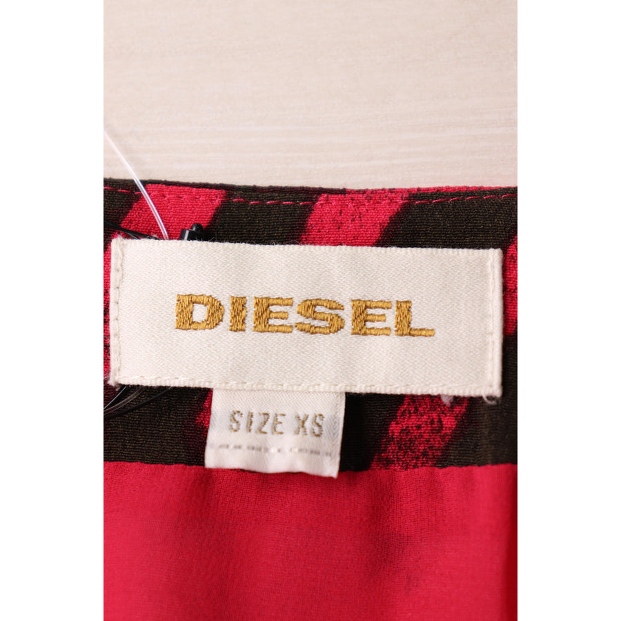 DIESEL/SL Dress/XS/Rayon/PNK/All Over Print