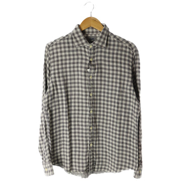 A BATHING APE/LS Shirt/L/Cotton/GRY/Plaid