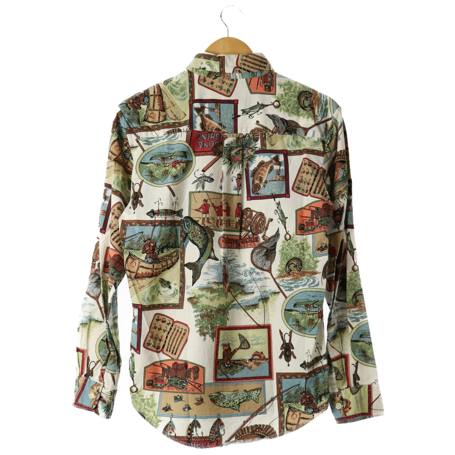 bimini bay/LS Shirt/L/Cotton/MLT/All Over Print