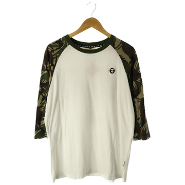 A BATHING APE/LS T-Shirt/XL/Cotton/WHT