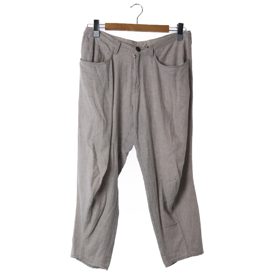 Edwina Horel/Ed Wina Hall/cropped pants/bottom/size notation None/linen/Gray