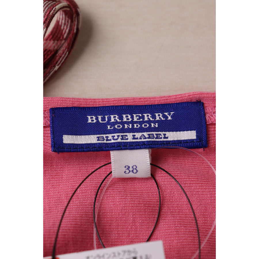 BURBERRY BLUE LABEL/T-shirt/38/Cotton/PNK