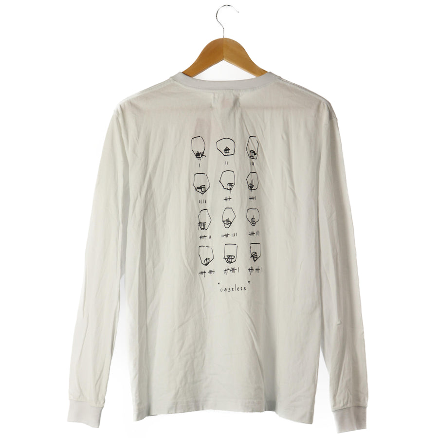 Kiko Kostadinov/17AW/CLASSLESS/LS T-Shirt/M/Cotton/white