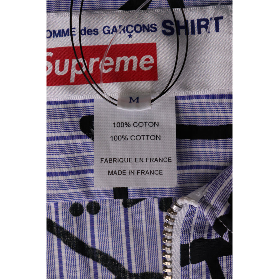 Supreme/jacket/M/Cotton/BLU/stripe