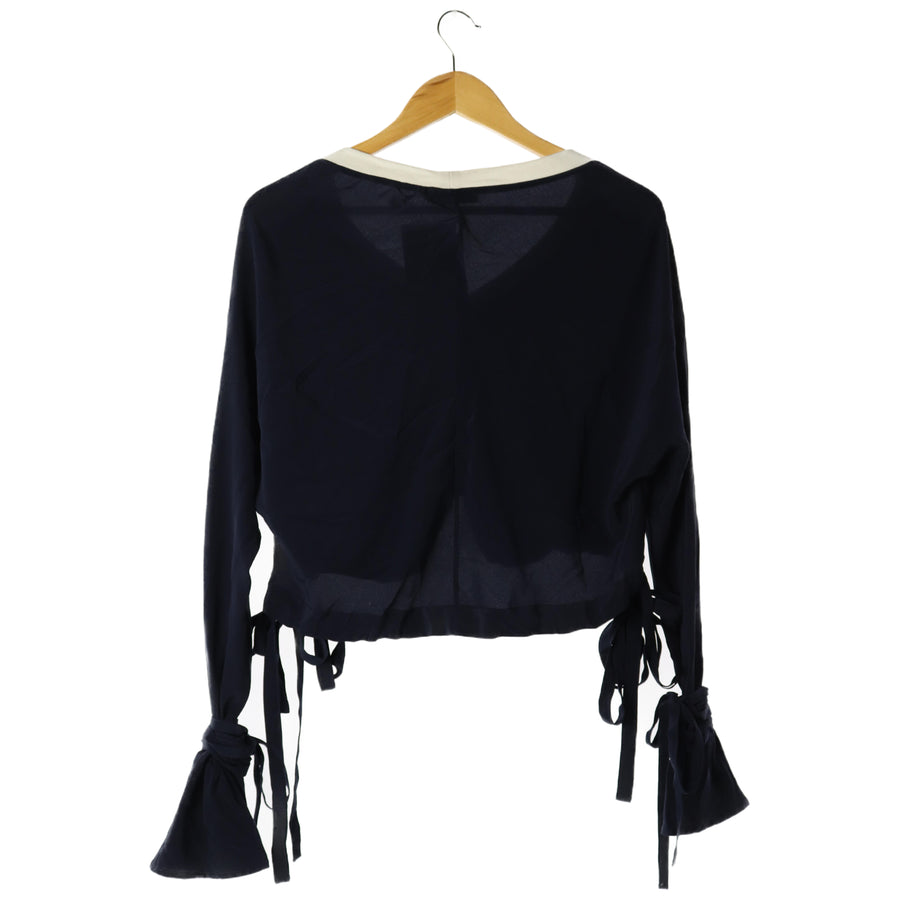 JW ANDERSON (J W ANDERSON)/LS Blouse/4/Polyester/NVY