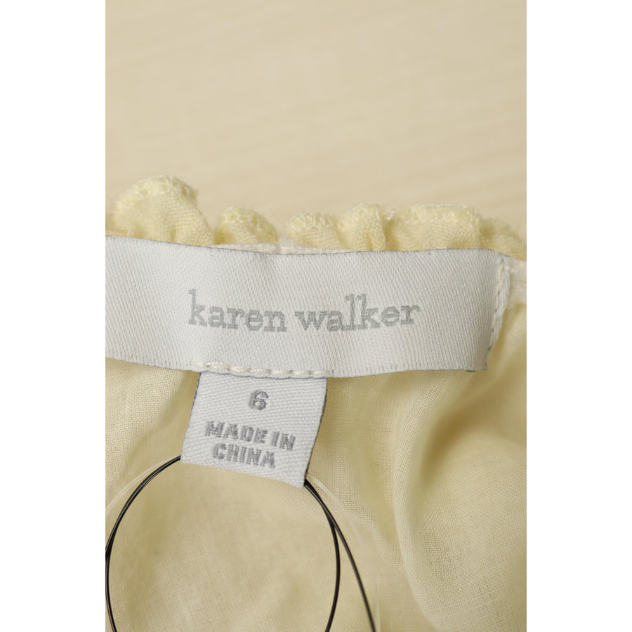 karen walker/LS Dress/wool/IVO/Floral Pattern
