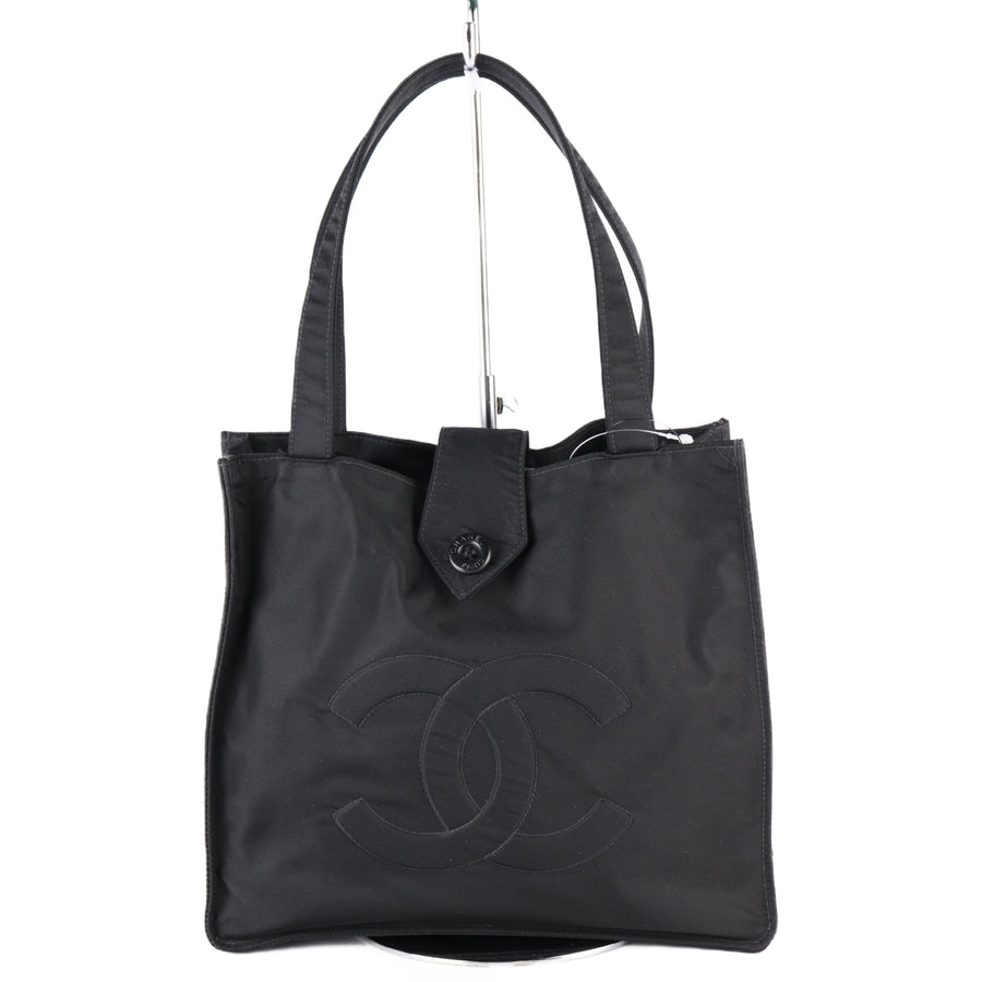 CHANEL/Tote Bag/Nylon/BLK