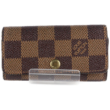 LOUIS VUITTON/Key Case/Damier/Multicles4/BRW/N62631