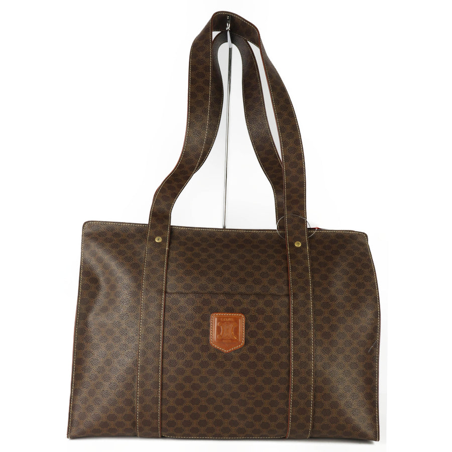 CELINE/Tote Bag/BRW/All Over Print/Macadam