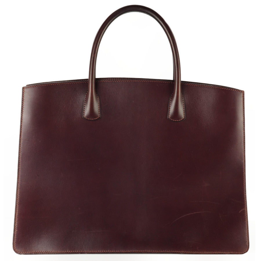 HERMES/Tote Bag/leather/PUP/Plain