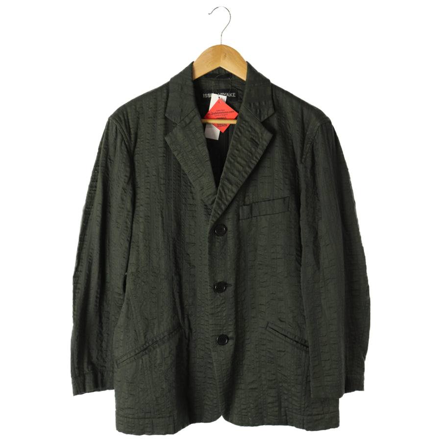 ISSEY MIYAKE/tailored jacket/2/cotton/GRN