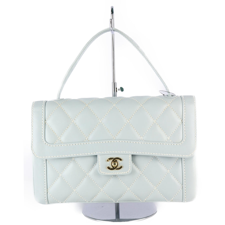 CHANEL/Hand Bag/cow leather/BLU/Matelasse
