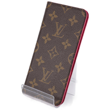 LOUIS VUITTON/Folio/Monogram Canvas/PVC/BRW/All Over Print