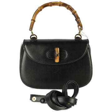 GUCCI/Cross Body Bag/leather/BLK