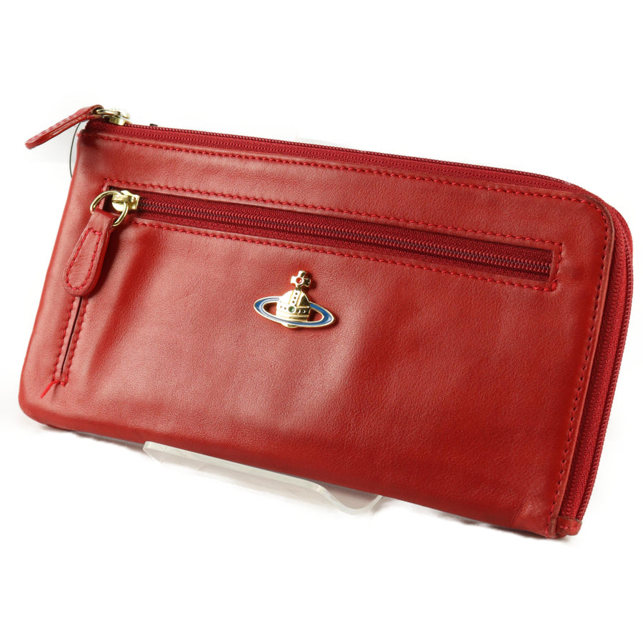 Vivienne Westwood/Long Wallet/RED/Plain