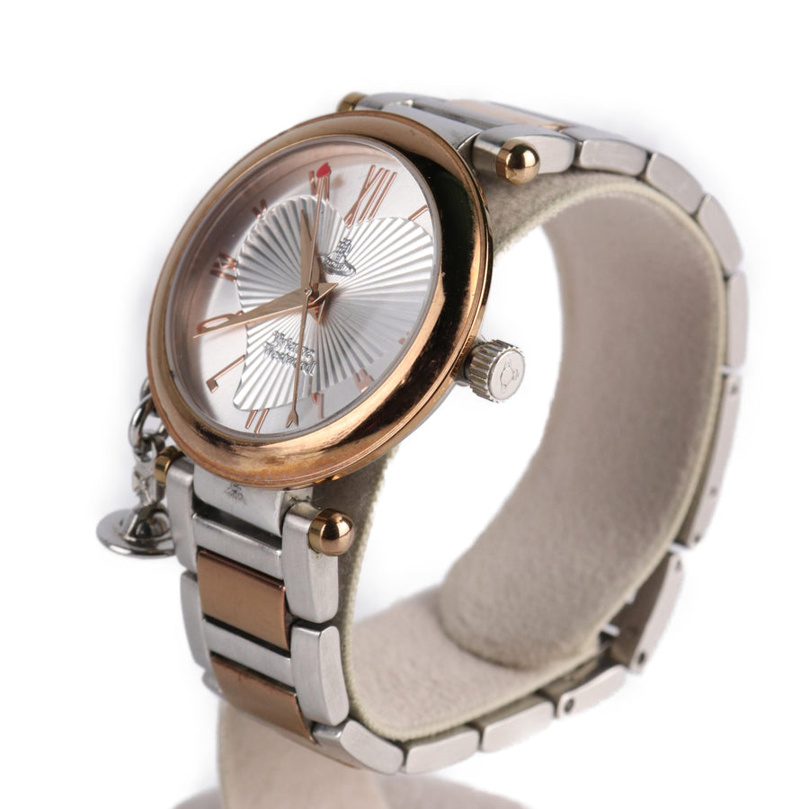Vivienne Westwood/Quartz Watch/Analog/SLV/Stainless