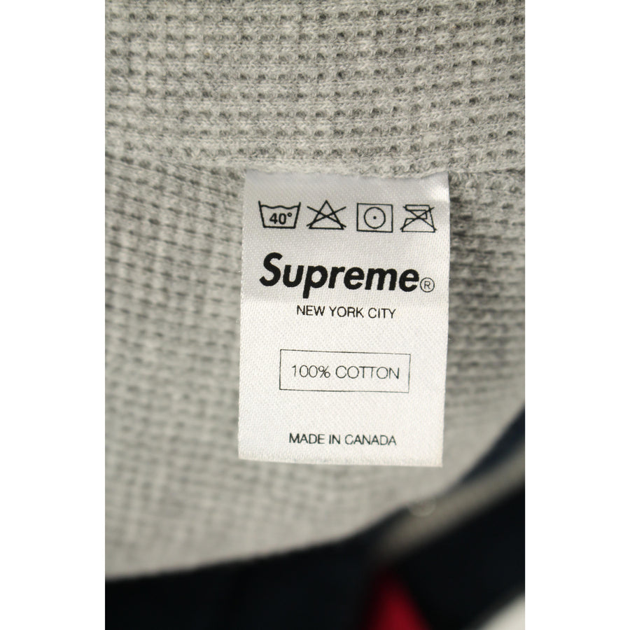 Supreme/Arc Logo Thermal Zip Up Hooded Sweatshirt/S/Cotton/NVY///