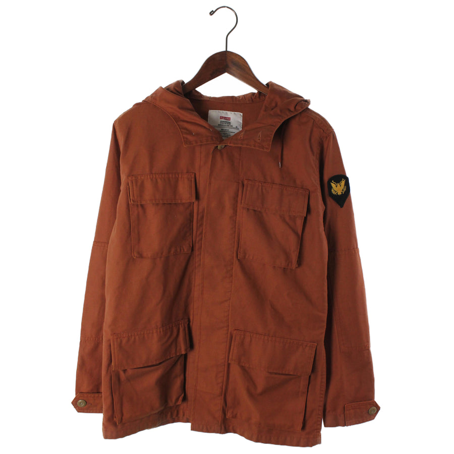 Supreme x Alpha/Hooded B.D.U. Jacket/10AW/Military Jacket/S/Cotton/CML/