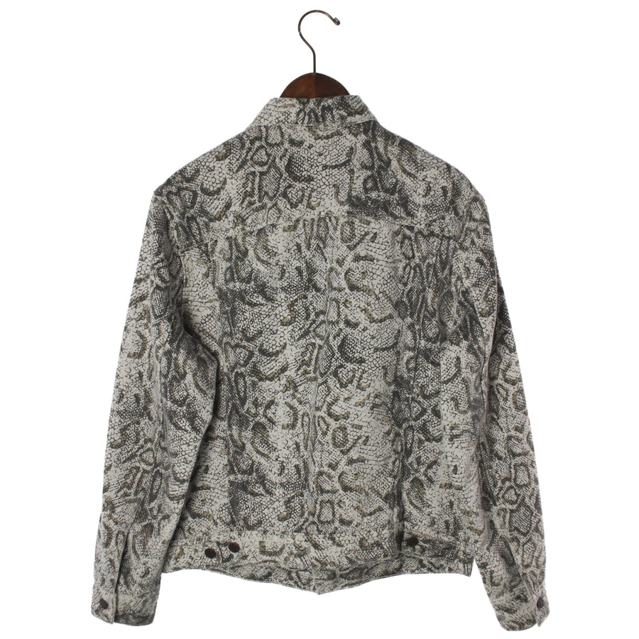 Supreme x Levis/17AW/Snakeskin Trucker Jacket/M/Cotton/GRY/