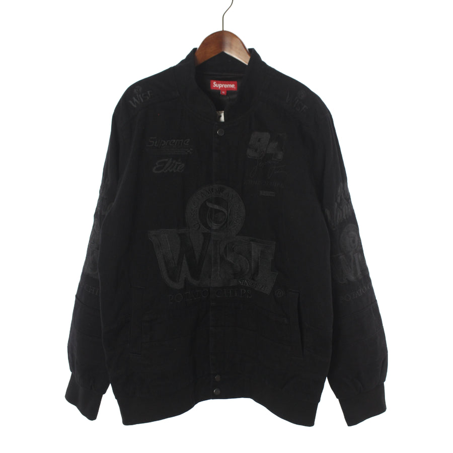 Supreme/13AW/Wise Racing Jacket/XL/Cotton/BLK/