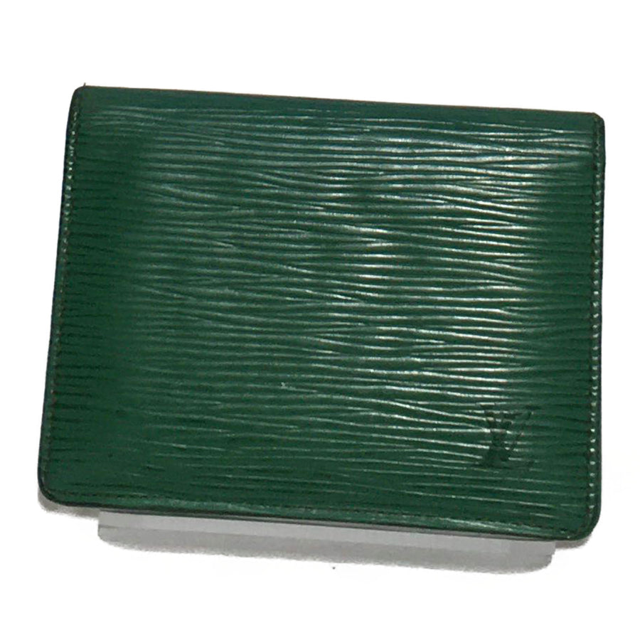 LOUIS VUITTON/EPI LEATHER GREEN/Bifold Wallet//GRN/Leather/Plain